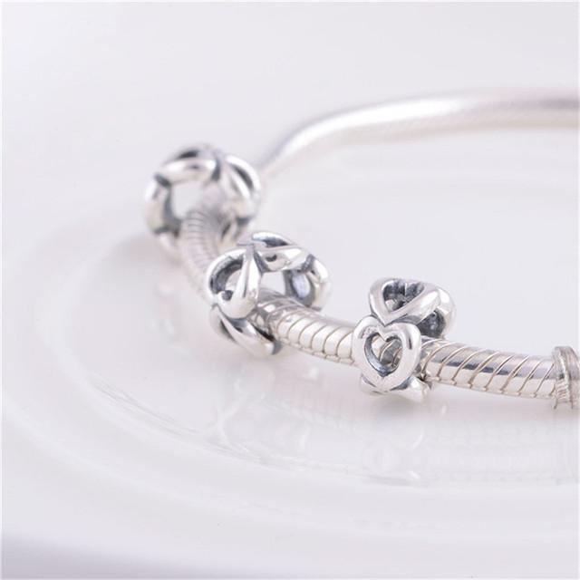 Подходит пандоры прелести браслет аутентичные 925 серебряные ювелирные изделия бусины полые в форме сердца картины DIY ювелирных изделий оптовая продажа