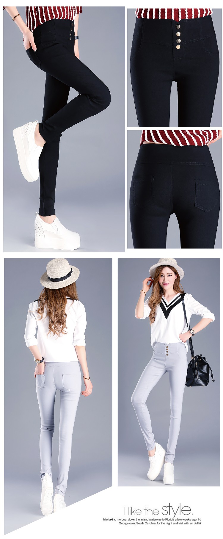 Fashion 2016 New Summer Elegant Women's OL Work Wear Slim Stretch Pencil Pants Trousers Leggings For Women/Female Plus Size 3XL