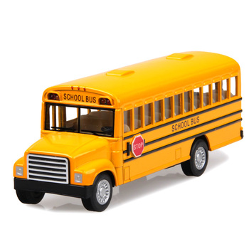 Kt 13-year-old long school bus alloy car model toy alloy car models WARRIOR open the door