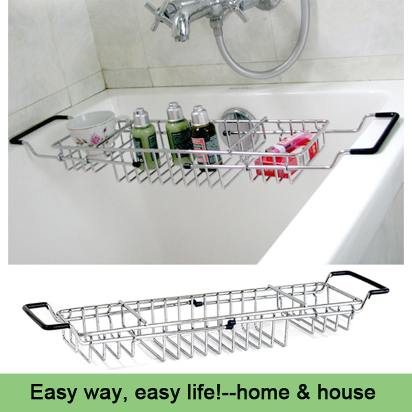 expandable bath rack Retractable bathtub rack bathroom bath shelf reading frame wine rack bath products bathroom(China (Mainland))