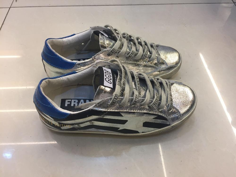 Golden goose superstar scarpe casual shoes worn uomini donne basso ggdb scarpe stella janoski cuoio genuino handmade<br><br>Aliexpress