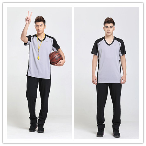 Free shipping basketball referee clothing breathable T-shirt pants suit professional tournament referee(China (Mainland))