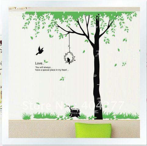 wall stickers tree design removable large tree design living room decorative wall stickerspvc - Wall Stickers Designs