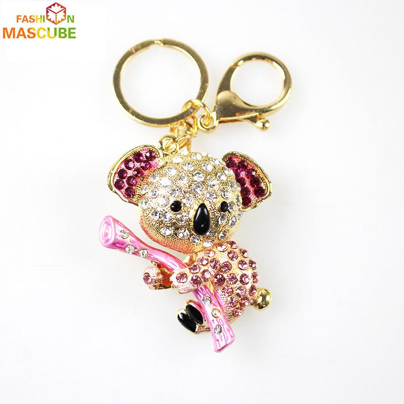 [MASCUBE FASHION]Rhinestone Multi Ms Girl Women Keychain Bag Pendant Quality Chic Car Key Chain Ring Monchichi Sleutelhanger(China (Mainland))