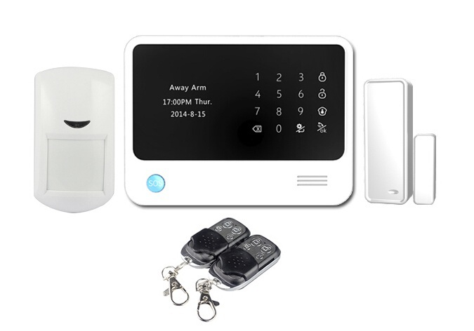wireless wifi GSM alarm system for home burglar alarm system + keypad can work with IP camera(China (Mainland))
