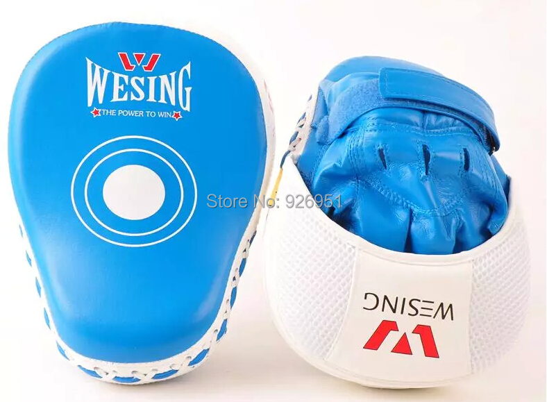 high quality blue Muay Thai Kick Boxing MMA Training Punch Mitts-Focus Boxing  Pads Thai Martial Arts Target Practice Gloves Red<br><br>Aliexpress
