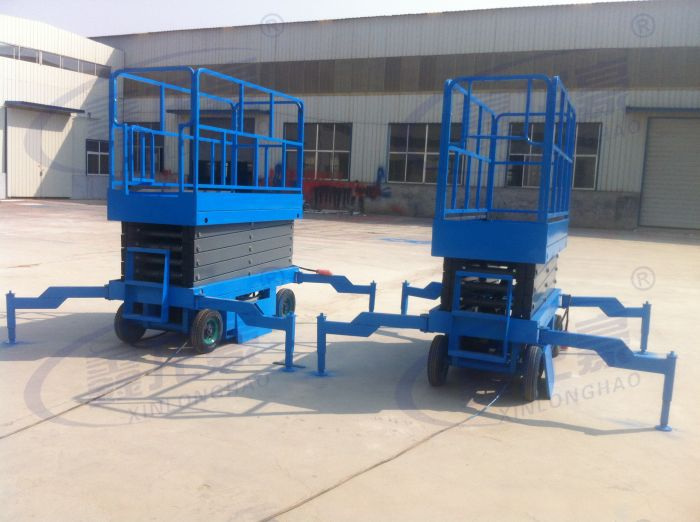 Factory hospital used 4m hydraulic mobile scissor table(China (Mainland))