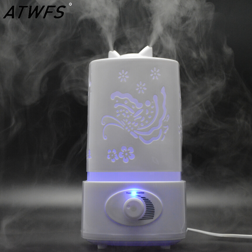 Ultrasonic Air Humidifier Fogger LED Lamp Oil Aroma Diffuser Mist Maker Aromatherapy Diffuser Air Cleaner Nebulizer Vaporizer(China (Mainland))
