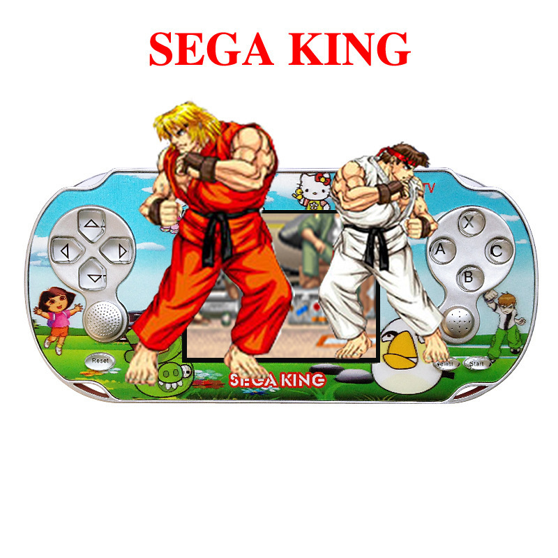 "New 3.3"" Sega king Classical Games Portable Handheld Game Console For SEGA 16-bit Cassette boy Game player With 999999 Games(China (Mainland))"