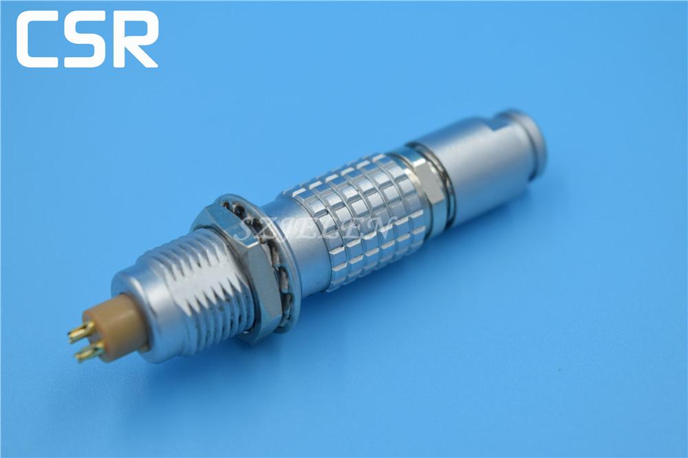 LEMO connector 4 pin plug and socket,FGG/EGG.0B.304.Automobile testing instrument plug socket, aircraft power connector 4 pin(China (Mainland))