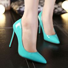 7 Colors Big Size Women Pumps Sexy Red Bottom Pointed Toe High Heels Shoes Woman 2016 Brand New Design Wedding Party Shoes