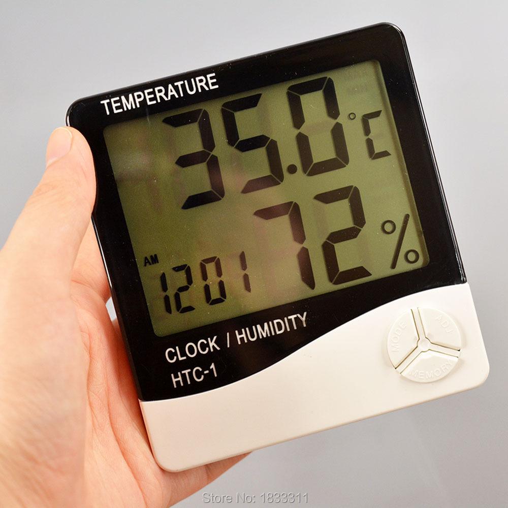 Humidity Meter White Temperature Instruments Indoor LCD Digital Temperature HTC-1(China (Mainland))