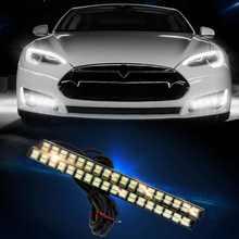 Новые 21 из светодиодов белый + 21 из светодиодов желтый 5630 стайлинга автомобилей дневные ходовые огни включать поворотник супер-водонепроницаемый