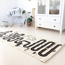 Nueva moda 100% algodón estera del juego del bebé aventura de carreras juego de alfombras niños decoración de la habitación Creeping juguetes para niños tamaño 180 x 70 CM(China (Mainland))