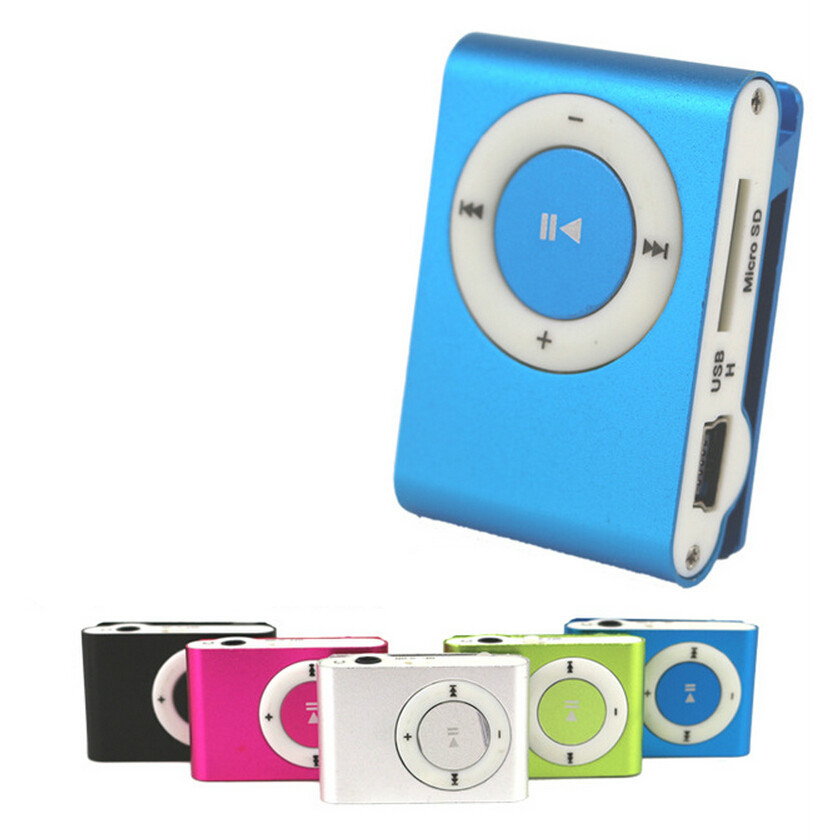Fashion Mini Metal Clip Mp3 Player Electronic Products 8 Colors Drop no earphone no charge cable