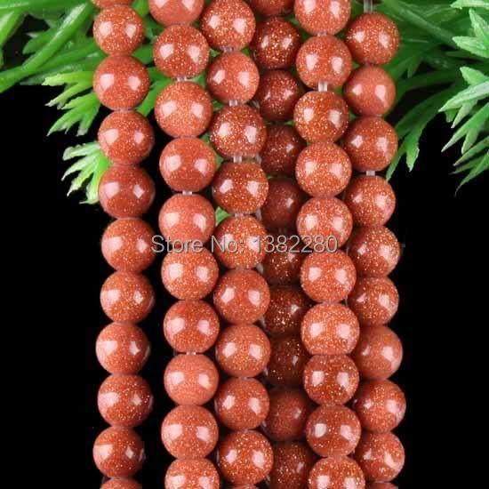 "Free shipping! Wholesale 4mm Goldstone Round Loose Beads Jasper Strand 15"" 2 pieces/lot fashion jewelry JT6142(China (Mainland))"