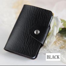 Fashion 24 Bits Useful Business Credit Card Holder PU Leather Buckle Cards Holders Organizer Manager For Women Men Free Shipping(China (Mainland))