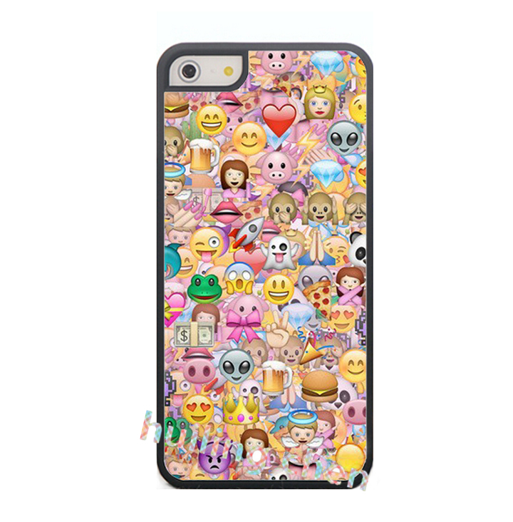 cute kawaii emoji fashion original cell phone case cover for iphone 4 4S 5 5S SE 5C 6 6S 6plus & 6s Plus #4172(China (Mainland))