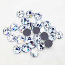 LY12113,DMC Flatback Hotfix Glass Beads Rhinestone ss12 Crystal 1440pcs/bag,Best quality CPAM free Use for Party beads