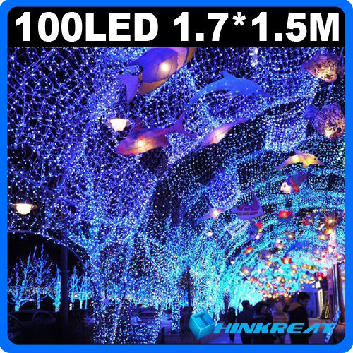 Holiday LED Mesh Strip Light With 8 Display Modes100 LED for Christmas Party Wedding Party Decoration LED Light 110V/220V YW14#(China (Mainland))