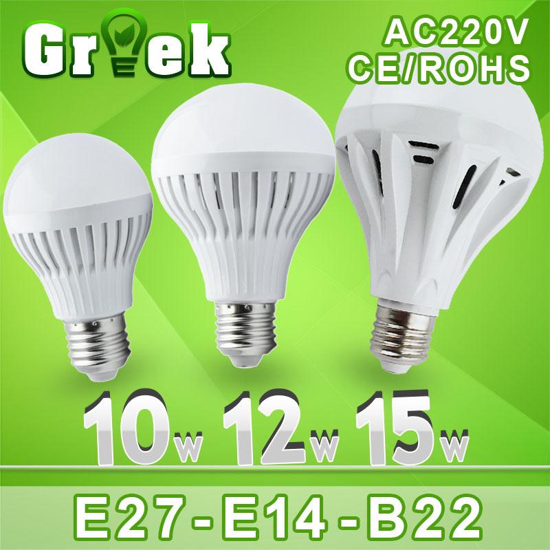 10pcs/lot Wholesale Led Lamp E27 B22 220V 3w 5w 7w 9w 12w 15w 25w 30w Led Bulb light 360 Degree Warm Cold White Led spot light(China (Mainland))
