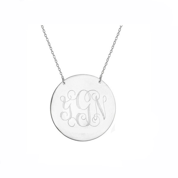 Custom Monogram Necklace Fashion Gold Plated Initial Letter Pendant Necklace personalize silver PLATED monogram necklace(China (Mainland))
