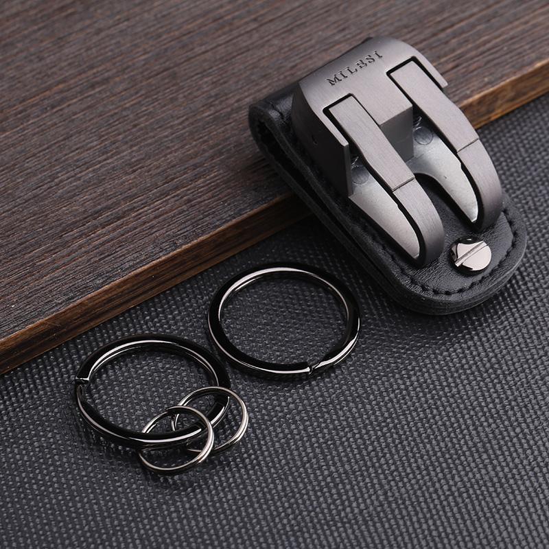 milesi brand men waist hung metal car keychain llaveros for belt slider key holder Trinket keyring chaveiro porte clef K0126(China (Mainland))