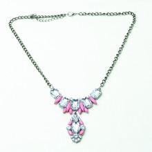 2015 New Women's Fashion Jewelry Luxury Flower Resin Rhinestone Necklace Alloy Statement Bib Chunky Choker Necklace Pendant(China (Mainland))