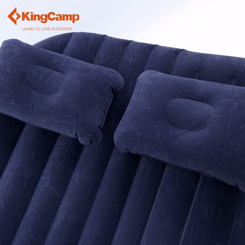 KingCamp Portable Outdoor Car Inflatable Mattress Flock Backseat Airbed Mat with Oxford Sack for Self-driving Camping