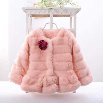 Baby Girls Jackets Faux Fur Infant Coats Red Pink Purple Children Outwear Flowers New Year Clothing Fashion Cute  H6847<br><br>Aliexpress