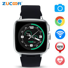 Buy Android Smart Watch Phone GPS WIFI A9 Camera Heart Rate Monitor Support SIM SD Card Bluetooth Wristwatch MP3 Inteligente Pulso for $79.39 in AliExpress store