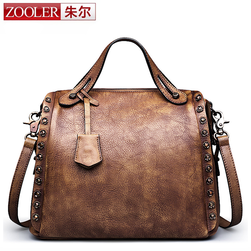 Vintage leather bag!!2016 new ZOOLER bags handbags women famous brands women leather bag First layer leather bag #5102<br><br>Aliexpress