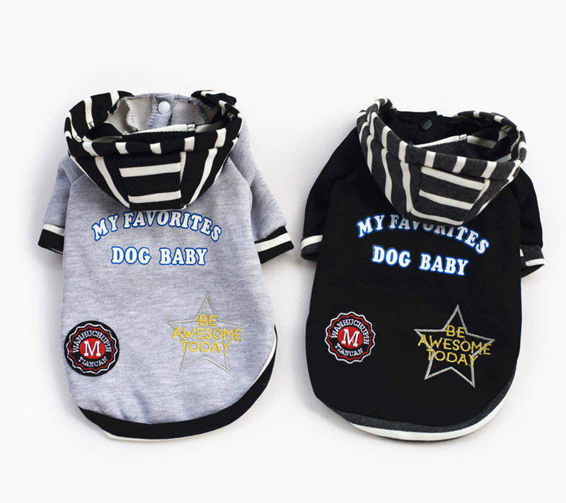 100% cotton hoodie clothes for dogs cute coat clothes for dogs small puppy clothing for chihuahua poodle free shipping(China (Mainland))