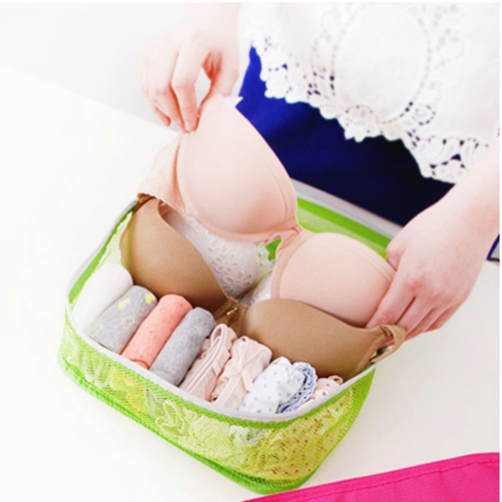 High Quality Cosmetic Bags Style Storage Travel Portable Underwear Cases Bra Organizer Hot Sale 3 Colors For Choose(China (Mainland))