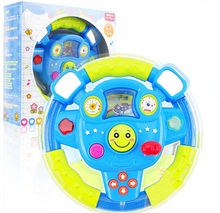 Kids Baby Car Steering Wheel Toys Light Colored Lighting Music Multifunctional Operation Child Early Learning Educational Toys(China (Mainland))