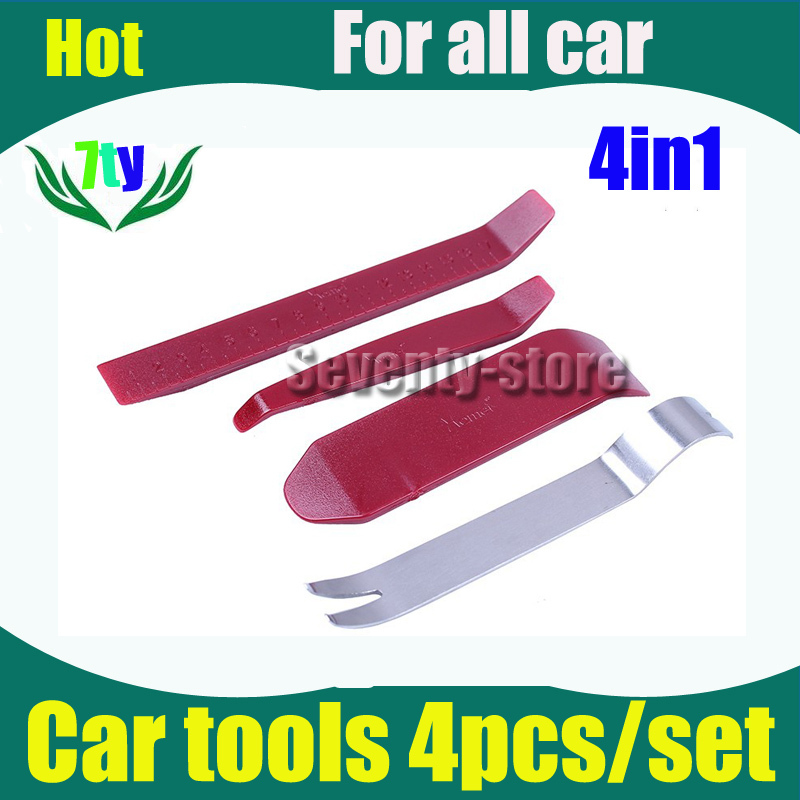 Car Radio DVD GPS Door Clip Panel Trim Dash Audio Removal Pry Tool Kit Plastic 4pcs/sets high quality(China (Mainland))