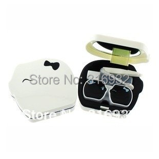 Free shipping 4pcs/lot  Pig Lovers Shaped contact lenses box, high quality