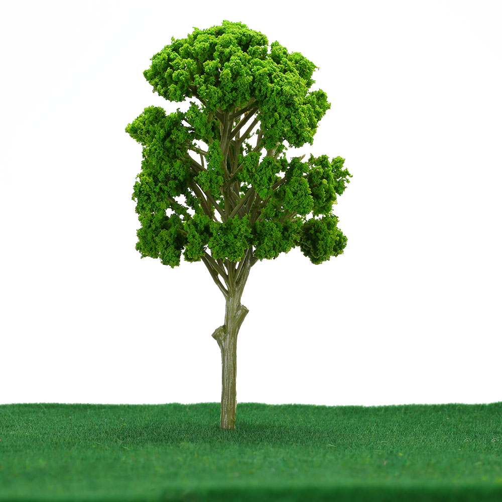 5Pcs/Set Green Tree Model Train Layout Garden Scenery Landscape Trees Model Diorama Miniatures Model Toys for Children(China (Mainland))