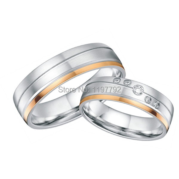 Cool Wedding Ring 2016 Surgical steel wedding ring sets