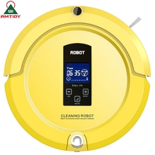 Intelligent Robotic Vacuum Cleaner Self Charge Remote control LCD Screen Side Brush UV Sterilization Home Appliance(China (Mainland))