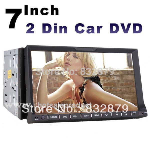 "universal 2 two Din 7"" Car DVD player GPS(optional), audio Radio stereo,FM,USB/SD,Bluetooth/TV,digital touch screen IN Dash(China (Mainland))"