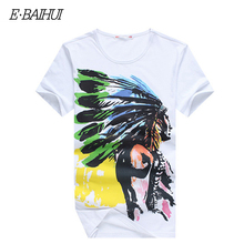 Buy E-BAIHUI Cotton T shirts Men Shorts Sleeve Design Summer male Indian printing t shirt Tops Tees Fashion Casual Tshirts Y025 for $8.24 in AliExpress store