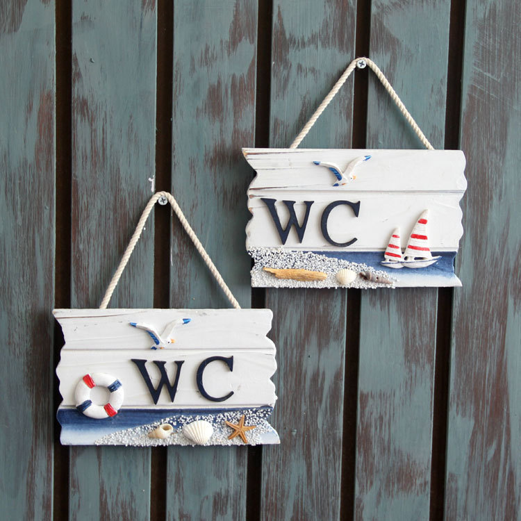 Mediterranean style nautical home decor wc pine wood boards for sale anchor decoration crafts - Decor wc ...