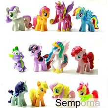 12pcs/lot 4-5cm Animation my Kids Toys Little Horse Action Figure Toy poni Cartoon MLP Rainbow Horse Children's Gift(China (Mainland))