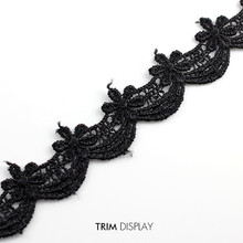 Buy 5Y Black Embroidered Applique Flower Trim Scrapbooking Lace Ribbon Fabric Trims Venise Trimming Diy Clothes Sewing for $9.88 in AliExpress store