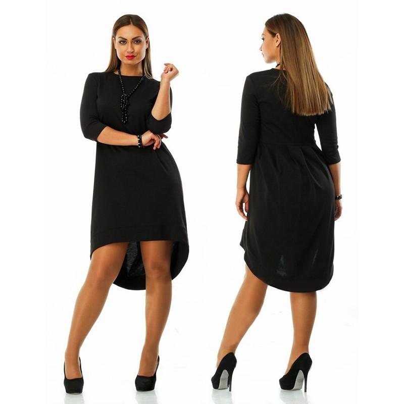Plus Size 4XL 5XL 6XL 2016 New Fashion Sexy European Brand Woman's Female Lady Loose Dress(China (Mainland))