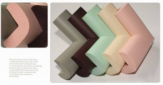 4Pcs/lot Fashion Right Angle NBR Rubber Soft Baby Safety Protector Kids Table Desk Corner Guards Edges With Double Size Tape ZXP(China (Mainland))