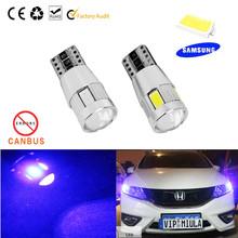 2PC/lot Free shipping Car Auto LED T10 194 W5W Canbus 6 smd 5630 cree LED Light Bulb No error car led light parking(China (Mainland))