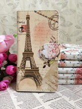 For Blackberry Torch 9800 Cover Case Skin , New Card Holder , Flower Paris Eiffel Tower Leather Whole Cover Case Skin Protect(China (Mainland))
