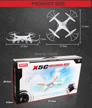 Free shipping Syma X5C Quadrocopter 2 4G 6 Axis GYRO HD Camera RC Quadcopter RTF Helicopter